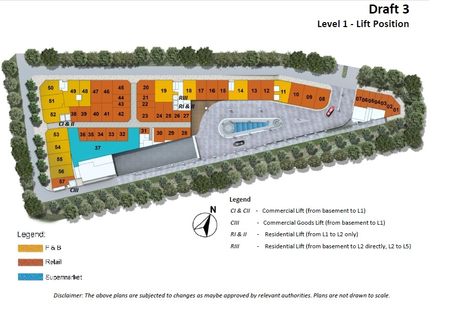 COMMERCIAL PLAN with lift - draft